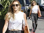 """Picture Shows: Hilary Duff  August 13, 2015    """"Younger"""" star Hilary Duff stops by Portofino skin care in Beverly Hills, California. Hilary recently partied at the Chateau Marmont.     Exclusive - All Round  UK RIGHTS ONLY    Pictures by : FameFlynet UK ? 2015  Tel : +44 (0)20 3551 5049  Email : info@fameflynet.uk.com"""