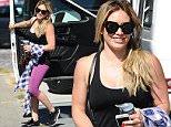 Hilary Duff is all smiles heading to the gym at Rise Nation in West Hollywood on Friday.\n\nPictured: Hilary Duff\nRef: SPL1098459  140815  \nPicture by: GAC/Splash News\n\nSplash News and Pictures\nLos Angeles: 310-821-2666\nNew York: 212-619-2666\nLondon: 870-934-2666\nphotodesk@splashnews.com\n