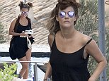 14.AUGUST.2015 - IBIZA - SPAIN\nBRITISH TV PRESENTER CAROLINE FLACK WEARING A BLACK DRESS IS SEEN ENJOYING HER HOLIDAYS ON THE BEAUTIFUL ISLAND OF IBIZA. \n*NOT AVAILABLE FOR SPAIN*\n***UK CLIENTS - PICTURES CONTAINING CHILDREN PLEASE PIXELATE FACE PRIOR TO PUBLICATION ***\nBYLINE MUST READ:  XPOSUREPHOTOS.COM\n*GERMAN CLIENTS, PLEASE CALL TO AGREE FEE PRIOR TO PUBLICATION*\n*UK CLIENTS MUST CALL PRIOR TO TV OR ONLINE USAGE PLEASE TELEPHONE 0208 344 2007*