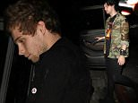 """EXCLUSIVE: 5 Seconds Of Summer (5 SOS) band members Michael Clifford , Luke Hemmings and Brian Dales of pop band """"The Summer Set"""" sneaks out of the Nice Guy nightclub ,in West Hollywood, CA ....Pictured: Luke Hemmings..Ref: SPL1101032  120815   EXCLUSIVE..Picture by: Roshan Perera / Splash News....Splash News and Pictures..Los Angeles: 310-821-2666..New York: 212-619-2666..London: 870-934-2666..photodesk@splashnews.com.."""