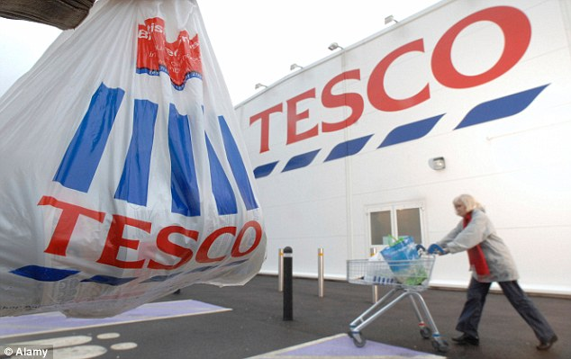 Tesco bounce: Britain's biggest supermarket eked out a sales rise in the 12 weeks to February 1 period, the first time it has done so since January 2014, according to the latest figures from Kantar Worldpanel