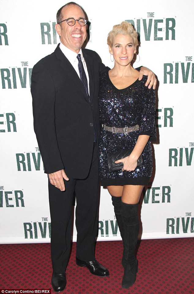 That's more like it! Jerry and Jessica displayed their elegant sides as they attended The River Broadway opening in New York last month