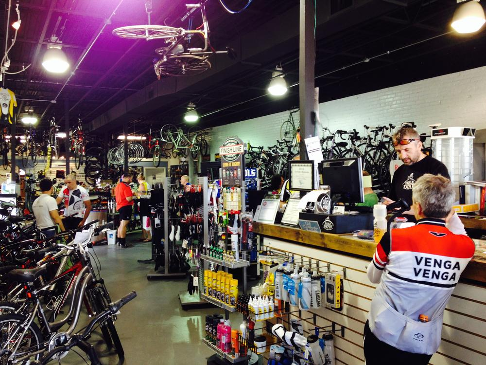 Oct 4th Champagne Ride Customer chatting with Teelo about some top secret upgrades for next week's ride!