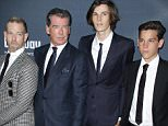 Mandatory Credit: Photo by Jim Smeal/BEI/REX Shutterstock (4967473be)  Pierce Brosnan and sons  'No Escape' film premiere, Los Angeles, America - 17 Aug 2015