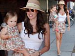 17.AUGUST.2015 - WEST HOLLYWOOD - USA *STRICTLY AVAILABLE FOR UK AND GERMANY USE ONLY* TAMARA ECCLESTONE AND PETRA STUNT ENJOY A WALK THROUGH THE STREETS OF THE 90210 AREA WITH THEIR CUTE DAUGHTERS AFTER GRABBING A BITE AT MAURO'S CAFE. LITTLE SOPHIA MATCHED HER OUTFIT WITH HER MUM'S WHILE PETRA'S GIRL LAVINIA STUNT LOOKED ADORABLE IN A COLOURED STRIPED DRESS AND MATCHING PINK FLATS. BYLINE MUST READ : XPOSUREPHOTOS.COM ***UK CLIENTS - PICTURES CONTAINING CHILDREN PLEASE PIXELATE FACE PRIOR TO PUBLICATION *** *UK CLIENTS MUST CALL PRIOR TO TV OR ONLINE USAGE PLEASE TELEPHONE 0208 344 2007*