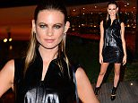 Sao Paulo, Brazil - Namibian babe and Victoria's Secret angel Behati Prinsloo attends an event for Louis Vuitton. She posed in a provocative black leather sleeveless top with matching mini-skirt and booties. AKM-GSI           August 17, 2015 To License These Photos, Please Contact :    Steve Ginsburg  (310) 505-8447  (323) 423-9397  steve@akmgsi.com  sales@akmgsi.com    or    Maria Buda  (917) 242-1505  mbuda@akmgsi.com  ginsburgspalyinc@gmail.com