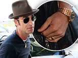 MAVRIXONLINE.COM - WORLDWIDE - Justin Theroux arrives the catch a plane at Los Angeles International Airport. Los Angeles, CA. 17th August 2015.\nByline, credit, TV usage, web usage or linkback must read MAVRIXONLINE.COM.\nFailure to byline correctly will incur double the agreed fee.\nTel: +1 305 542 9275.