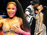 UK CLIENTS MUST CREDIT: AKM-GSI ONLY\nEXCLUSIVE: Vancouver, BC - Nicki Minaj performs her Pinkprint Tour in Vancouver, Canada at Rogers Arena. During the sold-out show she had a few nip slips with a couple of revealing costumes. Minaj was joined by boyfriend Meek Mill for a collaboration on Meek's song 'All Eyes On You'.\n\nPictured: Nicki Minaj\nRef: SPL1104600  170815   EXCLUSIVE\nPicture by: AKM-GSI / Splash News\n\n