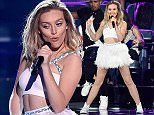 LOS ANGELES, CA - AUGUST 16:  Singer Perrie Edwards of Little Mix performs onstage during the Teen Choice Awards 2015 at the USC Galen Center on August 16, 2015 in Los Angeles, California.  (Photo by Kevin Mazur/Fox/WireImage)