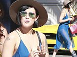 Picture Shows: Rumer Willis  August 16, 2015    Injured actress Rumer Willis and a friend out shopping at Cartier on her birthday in Beverly Hills, California.     Rumer turned 27 today and decided to treat herself to some retail therapy.     Exclusive - All Round  UK RIGHTS ONLY    Pictures by : FameFlynet UK © 2015  Tel : +44 (0)20 3551 5049  Email : info@fameflynet.uk.com