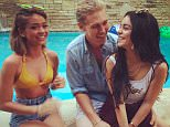 EROTEME.CO.UK FOR UK SALES: Contact Caroline 44 207 431 1598 Picture shows: Sarah Hyland, Vanessa Hudgens and boyfriend Austin. NON-EXCLUSIVE:  Tuesday 18th August 2015 Job: 150818UT2  London, UK EROTEME.CO.UK 44 207 431 1598 Disclaimer note of Eroteme Ltd: Eroteme Ltd does not claim copyright for this image. This image is merely a supply image and payment will be on supply/usage fee only.