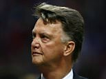 Manchester United manager Louis van Gaal during the UEFA Champions League Play-Off match between Manchester United and Club Brugge played at Old Trafford, Manchester