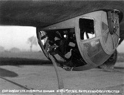 B-17 Ball Turret damage Arizona Wing CAF