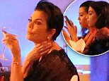 Please contact X17 before any use of these exclusive photos - x17@x17agency.com   Kris Jenner and the Kardashian family partying and drinking champagne in St Barth August 19, 2015 The party was at Tom's Beach X17online.com