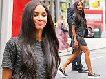UK CLIENTS MUST CREDIT: AKM-GSI ONLY EXCLUSIVE: New York, NY - Ciara leaves a nail salon with her muscle in SoHo, New York City.  Pictured: Ciara Ref: SPL1106166  190815   EXCLUSIVE Picture by: AKM-GSI / Splash News