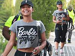 Christina Milian  shopping in West Hollywood wearing a Barbie Perfect logo t-shirt Featuring: Christina Milian Where: Los Angeles, California, United States When: 19 Aug 2015 Credit: WENN.com