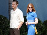 Picture Shows: Ryan Gosling, Emma Stone  August 19, 2015    Actors Emma Stone and Ryan Gosling are seen filming scenes for the upcoming movie 'La La Land' in Los Angeles, California.    Non Exclusive  UK RIGHTS ONLY    Pictures by : FameFlynet UK © 2015  Tel : +44 (0)20 3551 5049  Email : info@fameflynet.uk.com