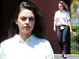 *EXCLUSIVE* Glendale, CA - Mila Kunis stops by the ABC Studios in Glendale, the new mom displayed her post baby figure wearing a very casual white blouse with black skinny jeans and black leather flats. The actress, who turned 32 on Aug. 14, spent her big day in New York City alongside husband Ashton Kutcher and their daughter, Wyatt. The couple, who tied the knot last month, recently honeymooned in Yosemite and brought their daughter along for the ride. \nAKM-GSI          August 18, 2015\n**MANDATORY CREDIT MUST READ: FameFlynet/AKM-GSI**\n \nTo License These Photos, Please Contact :\nSteve Ginsburg\n(310) 505-8447\n(323) 423-9397\nsteve@akmgsi.com\nsales@akmgsi.com\nor\nMaria Buda\n(917) 242-1505\nmbuda@akmgsi.com\nginsburgspalyinc@gmail.com