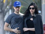 EXCLUSIVE: Newlyweds Joseph Gordon-Levitt & Tasha McCauley take a romantic stroll together after a sunday brunch at gratitude cafe in Los Angeles!....Pictured: Joseph Gordon-Levitt, Tasha McCauley..Ref: SPL944764  080215   EXCLUSIVE..Picture by: M A N I K (NYC)....Splash News and Pictures..Los Angeles: 310-821-2666..New York: 212-619-2666..London: 870-934-2666..photodesk@splashnews.com..