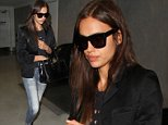 LOS ANGELES, CA - AUGUST 18: Irina Shayk is seen at LAX. on August 18, 2015 in Los Angeles, California.  (Photo by GVK/Bauer-Griffin/GC Images)