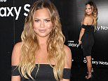 WEST HOLLYWOOD, CA - AUGUST 18:  Chrissy Teigen attends the Samsung launch party on August 18, 2015 in West Hollywood, California.  (Photo by Jason LaVeris/FilmMagic)