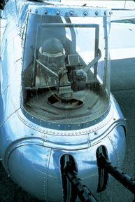 Tail Gunner at guns Arizona Wing CAF