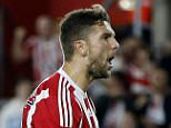 Football - Southampton v FC Midtjylland - UEFA Europa League Qualifying Play-Off First Leg - St Mary's Stadium, Southampton, England - 20/8/15  Jay Rodriguez celebrates after scoring the first goal for Southampton  Mandatory Credit: Action Images / Andrew Couldridge  Livepic  EDITORIAL USE ONLY.