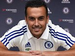 Chelsea FC via Press Association Images MINIMUM FEE 40GBP PER IMAGE - CONTACT PRESS ASSOCIATION IMAGES FOR FURTHER INFORMATION. Chelsea's new signing Pedro at the Cobham Training Ground on 20th August 2015 in Cobham, England.