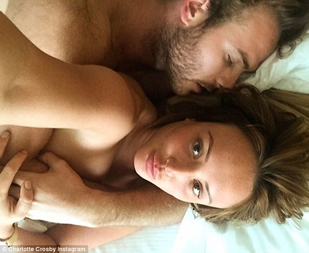 'We're still really good friends': The duo's impassioned snogging session came only two weeks after Charlotte confirmed her and ex-boyfriend Mitch Jenkins were over but that the 'door had been left open'