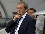 England's head coach Roy Hodgson reacts during the UEFA Euro 2016 group E qualifying football match between Slovenia and England at the Stozice stadium in Ljubljana on June 14, 2015.  AFP PHOTO / SAMUEL KUBANISAMUEL KUBANI/AFP/Getty Images