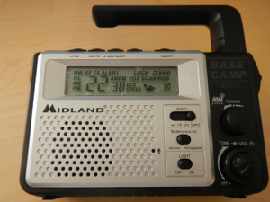 Midland XT511 displayed options