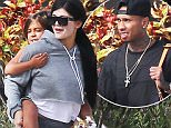 Picture Shows: Mason Disick, Kylie Jenner  August 21, 2015\n \n The Kardashian clan, stars of the popular reality television show 'Keeping Up With The Kardashians', are spotted boarding a small jet to catch a flight out of Saint Barts in the Caribbean. \n \n Khloe looked to have white spots all over her legs while Kylie's face also appeared to look a little lighter than usual. The family has spent the last four days soaking up the sun and taking in the sights of the tropical island.\n \n Non Exclusive\n UK RIGHTS ONLY\n \n Pictures by : FameFlynet UK © 2015\n Tel : +44 (0)20 3551 5049\n Email : info@fameflynet.uk.com