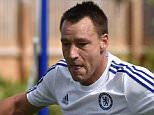 Chelsea FC via Press Association Images MINIMUM FEE 40GBP PER IMAGE - CONTACT PRESS ASSOCIATION IMAGES FOR FURTHER INFORMATION. Chelsea's John Terry during a training session at the Cobham Training Ground on 21st August 2015 in Cobham, England.