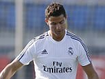 MADRID, SPAIN - AUGUST 20: Cristiano Ronaldo of Real Madrid in action during a training session at Valdebebas training ground on August 20, 2015 in Madrid, Spain. (Photo by Angel Martinez/Real Madrid via Getty Images)