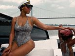 Beyonce on a Boat with Husband Jay-Z and Daughter Blue Ivy Carter