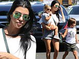 Newly single Kourtney Kardashian spends quality time with children Mason and Penelope in Calabasas, CA. Sunday, August 23, 2015. X17online.co