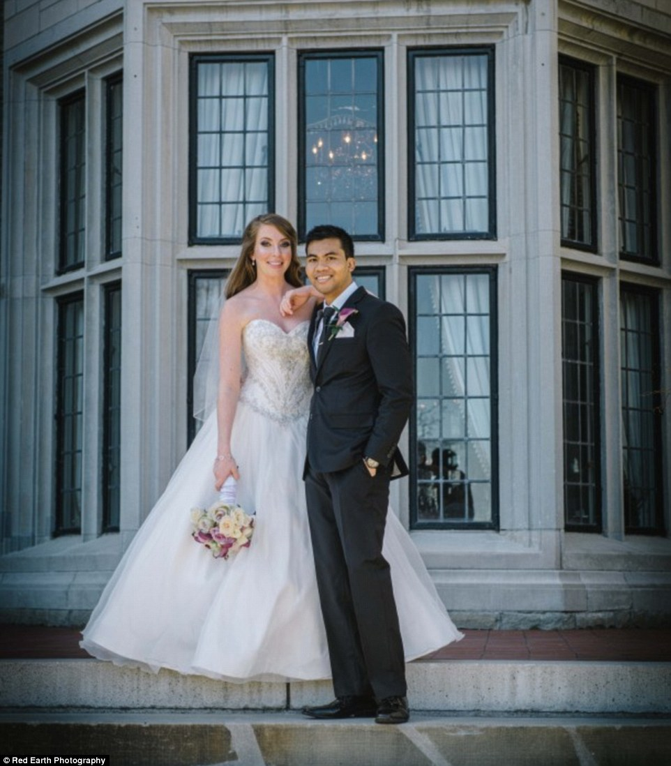 Images from the couple's big day show them smiling and happy despite the fact that Chau knew he had just months left to live