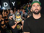 LAS VEGAS, NV - AUGUST 22:  Television personality Brody Jenner (L) and DJ Devin Lucien celebrate Jenner's birthday and the launch of his residency at The Bank Nightclub at the Bellagio on August 22, 2015 in Las Vegas, Nevada.  (Photo by Bryan Steffy/WireImage)