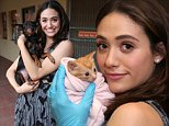 LOS ANGELES, CA - AUGUST 21:  Actress Emmy Rossum partners with Windows 10 and Best Friends Animal Society as part of Upgrade Your World on August 21, 2015 in Los Angeles, California.  (Photo by Ari Perilstein/Getty Images for Microsoft)