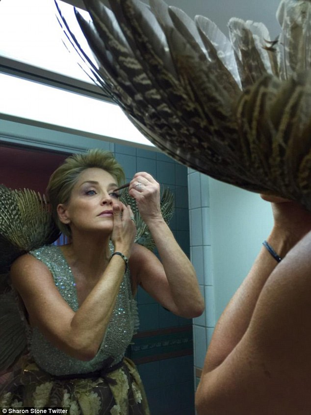 The finishing touches! On Saturday, the star shared an image of herself on Twitter, preparing for the gala