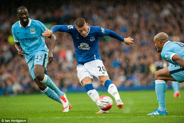 Ross Barkley was lively in the first half for Roberto Martinez's men, and won a free-kick in a dangerous area