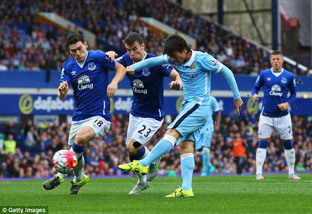 David Silva pulled the strings in the opening half hour and was denied a goal by the post in the second half