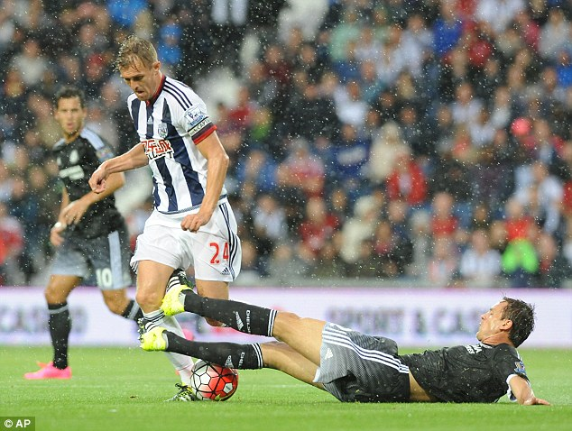 Baggies captain Darren Fletcher was tireless in his central midfield role and showed great leadership