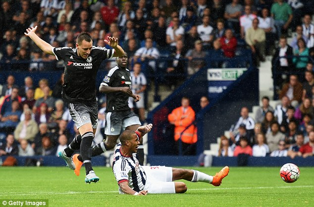 John Terry saw red for this challenge on Solomon Randon, putting Chelsea's three points at risk
