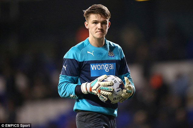 Newcastle goalkeeper Freddie Woodman is currently impressing while on loan at Crawley Town