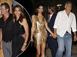 George and Amal Clooney and Cindy Crawford and Rande Gerber arrive to Ushuaia hotel for Spanish launch of their Casamigos tequila on Ibiza.\n\nPictured: George Clooney and Amal Alamuddin\nRef: SPL1108086  230815  \nPicture by: Splash News\n\nSplash News and Pictures\nLos Angeles: 310-821-2666\nNew York: 212-619-2666\nLondon: 870-934-2666\nphotodesk@splashnews.com\n