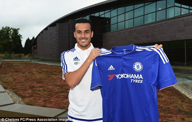 Spaniard Pedro arrived at Stamford Bridge from Barcelona earlier this week in a deal worth £21million