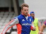 LONDON, ENGLAND - AUGUST 18:  Jos Buttler, batting coach Mark Ramprakash and Ben Stokes of England play football ahead of a nets session ahead of the 5th Investec Ashes Test match between England and Australia at The Kia Oval on August 18, 2015 in London, United Kingdom.  (Photo by Gareth Copley/Getty Images)