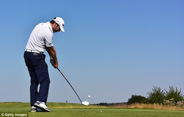The Englishman has been reined in by Terry Pilkadaris with the Australian just one shot behind