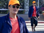 Malibu, CA - Actor, Orlando Bloom, looked casual for a meal at farm-to-table restaurant, Ollo.  He was seen in a bright yellow baseball cap, blue button-up shirt, red tee, black bermuda shorts, and flip flops.\nAKM-GSI       August 23, 2015\nTo License These Photos, Please Contact :\nSteve Ginsburg\n(310) 505-8447\n(323) 423-9397\nsteve@akmgsi.com\nsales@akmgsi.com\nor\nMaria Buda\n(917) 242-1505\nmbuda@akmgsi.com\nginsburgspalyinc@gmail.com